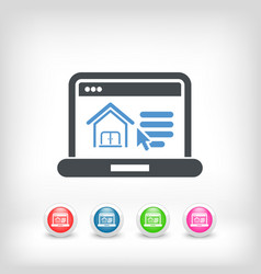Realestate web site icon vector