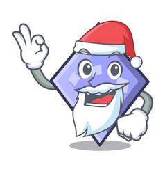 santa rhombus mascot cartoon style vector image