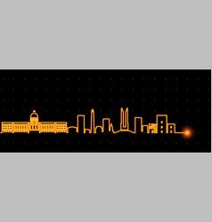 Santo domingo light streak skyline vector