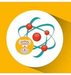 Scientist chemistry concept molecule structure vector