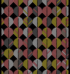 seamless abstract geometric chevron leaf pattern vector image