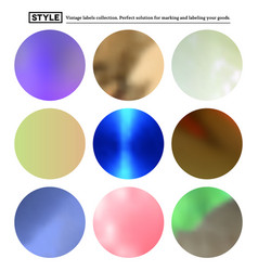 Set colorful blurred round spots vector