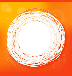 Sketched sunny orange abstract label vector