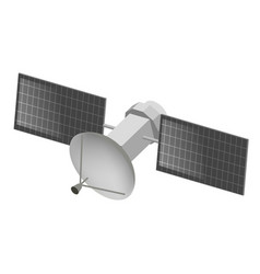 Space satellite flat isometric vector