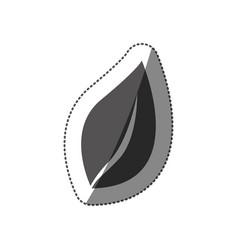 Sticker silhouette leaf plant icon vector