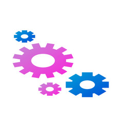 team wheel icon isometric style vector image