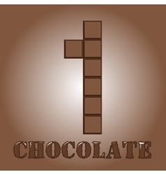 The number of bars chocolate one vector
