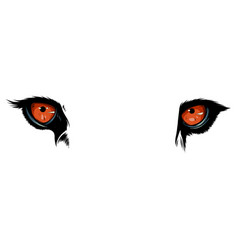 tiger eyes mascot graphic in vector image