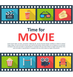 Time for movie copyspace poster vector