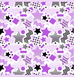Ultra violet stars background vector