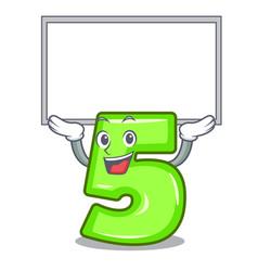 up board character number five at wooden door vector image