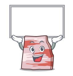 Up board pork lard character cartoon vector