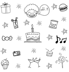 Wedding party element in doodle vector