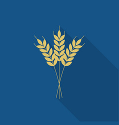 wheat or barley icon flat design for logo vector image vector image