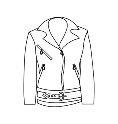 Women jacket icon outline style vector