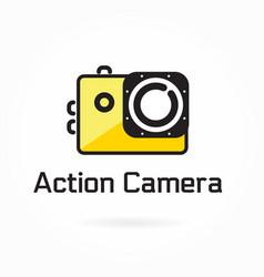 action camera icon logo element vector image
