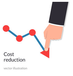 cost reduction concept cost down businessman vector image