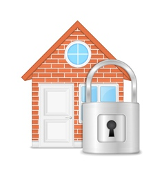 House with Lock vector image vector image