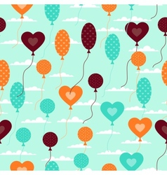 Seamless pattern with balloons in retro style vector image