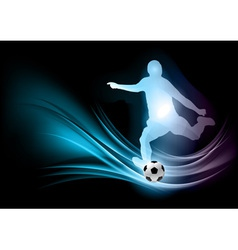 soccer player abstract vector image