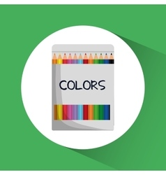 Colors icon Education concept Flat vector image