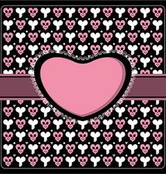 Emo gothic romantic frame vector image