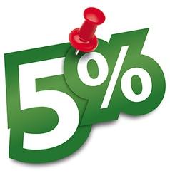 Five percent sticker vector image