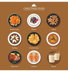 Food for festival christmas and thanksgiving vector image