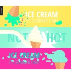Three advertising banner templates vector image vector image