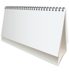 blank desktop calendar vector image