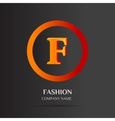 F Letter logo abstract design vector image