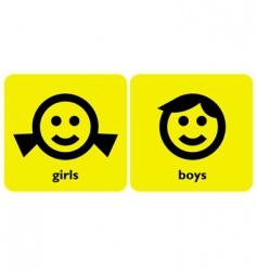 gender signs vector image vector image