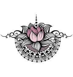 Lotus design vector image