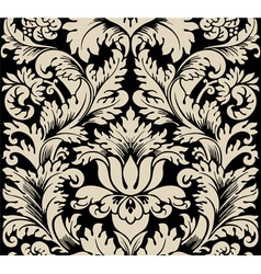 damask semless silk vector image vector image