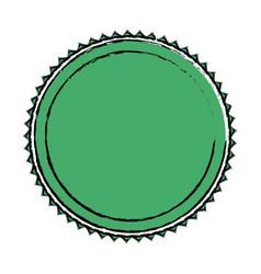 green label badge decoration blank emblem vector image vector image