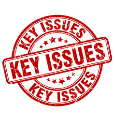 Key issues red grunge stamp vector