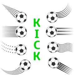 soccer ball set vector image vector image