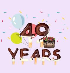 49 years happy birthday card vector