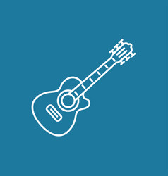 Acoustic guitar icon vector