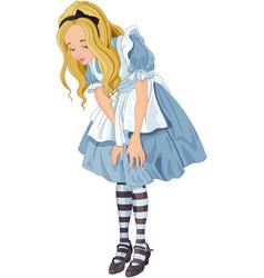 Alice from wonderland vector
