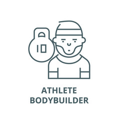 athletebodybuildersportsman line icon vector image