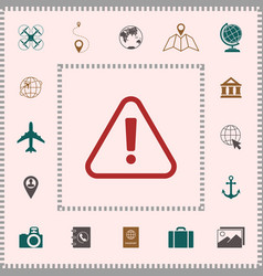 attention icon symbol elements for your design vector image