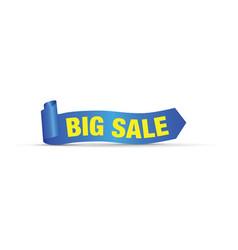 Big big sale sign vector