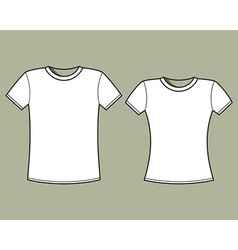 Blank t-shirts template vector