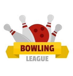 Bowling logo flat style vector