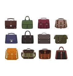 bundle of trendy men s handbags - cross body vector image