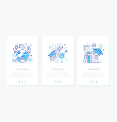 Business and education - set line design style vector