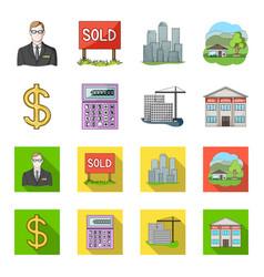 Calculator dollar sign new building real estate vector