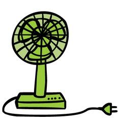 Electric fan Royalty Free Vector Image - VectorStock