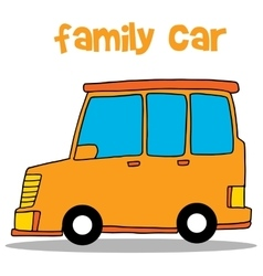 Collection stock of family car vector image vector image